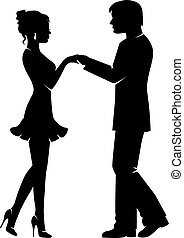 silhouette of a loving couple