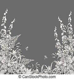Vector Floral Summer Background - Vector floral summer...