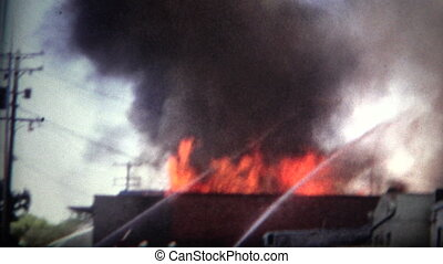 (8mm Film) 1968 Building Fire - A unique vintage 8mm home...
