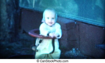 8mm Film 1949 Baby in Jumper - A unique vintage 8mm home...