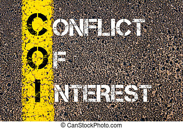 Business Acronym COI as CONFLICT OF INTEREST - Business...