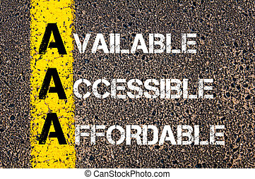 Business Acronym AAA - Concept image of Business Acronym AAA...