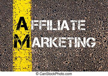 Business Acronym AM as AFFILIATE MARKETING - Business...