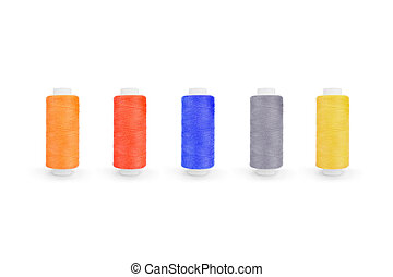 colored thread isolated on white