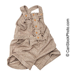 rompers tweed on an isolated white background