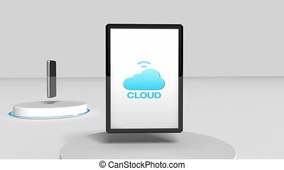 Access Cloud computing service animation (included Alpha)