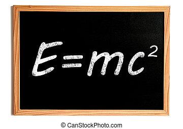 Einstein Energy Formula on Chalkboard - Einstein Energy...