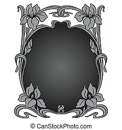 Vector art nouveau ornament - Vector art nouveau ornamental...