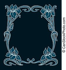 Vector art nouveau ornament. - Vector art nouveau ornamental...