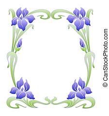 Vector art nouveau ornament - Vector art nouveau ornamental...