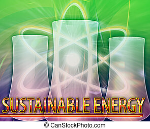 Sustainable energy Abstract concept digital illustration