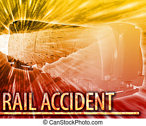 Rail accident Abstract concept digital illustration -...