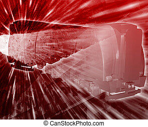 Train accident Abstract concept digital illustration -...