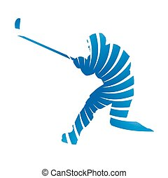 Abstract vector ice hockey player