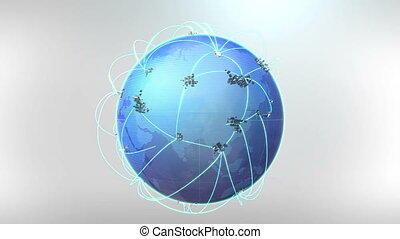 Growing Global Network-white background