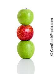 3 Apple - 3 fresh apple isolated over white background