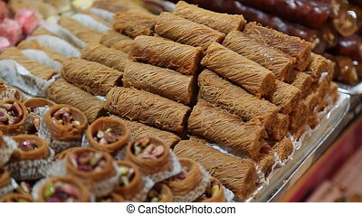 Delicious Turkish baklava in Istanbul - Delicious Turkish...