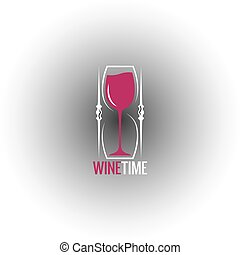 wine glass hourglass concept design background 8 eps