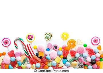 variety of sweets - Arrangement of a variety of sweets on a...