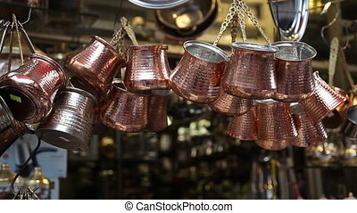 Cooper coffee pots most famous as cezve Istanbul - Cooper...