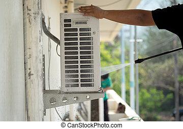 Cleaning air conditioning  - Cleaning air conditioning