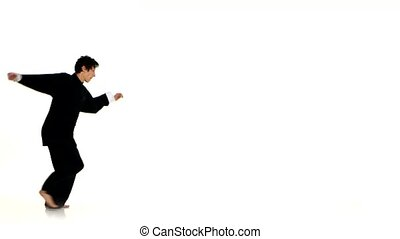 Karate or wushu makes a somersault through itself - Karate...