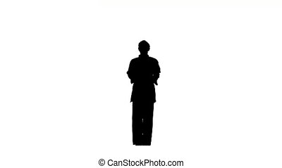 Karate or  taekwondo Man in a kimono It shows the different elements, Silhouette