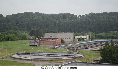 water cleaning facility - water treatment facility buildings...
