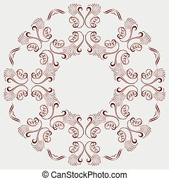 colored circular ornament in Oriental style. Vector