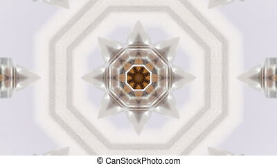 Brown kaleidoskope background - Brown and white kaleidoskope...