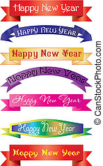 headline new year - set of headlines with `Happy New Year`...