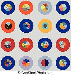 集合, 元素, 項目, 事務,  infographic, 統計數字, 報告, 輪
