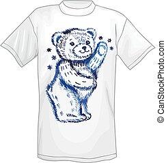 T-shirt & standing bear