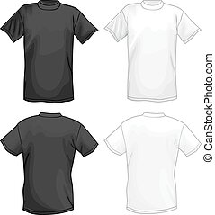White and black vector T-shirt