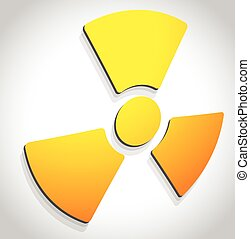 Simple radiation, radioactivity sign. Eps 10 vector...