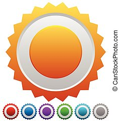 Colorful badges with blank space, vector