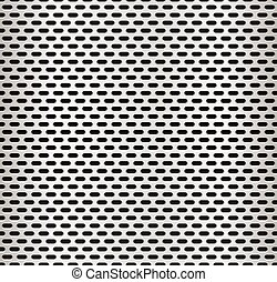 Seamless metal swatch Perforated metal pattern with black...