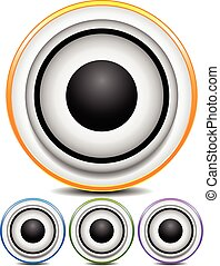 Graphics with loudspeaker for music, audio or multimedia...