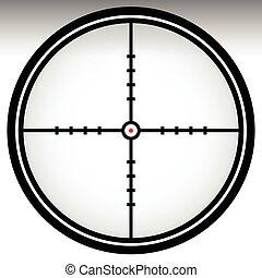 Crosshair, reticle, target mark Editable vector illustration...