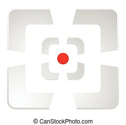 Abstract cross hair, target mark reticle vector icon