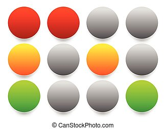 Traffic lights, Traffic lamps isolated on white Semaphores