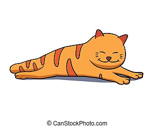 lazy cat clipart - photo #1