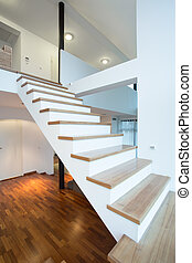 Stairs without rails - High wooden stairs without rails...