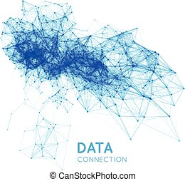 Abstract network connection background - Abstract network...