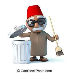 3D, haut, marocain, nettoyage