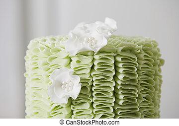 蛋糕, 皺紋, 花, 軟糖料, 糖