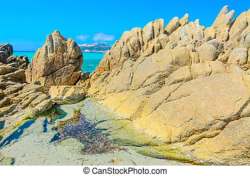 Santa Reparata yellow rocks - yellow rocks by Santa Reparata...