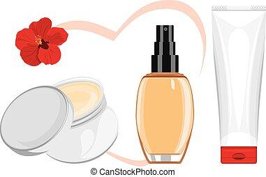 Cosmetic favorite cream Vector illustration