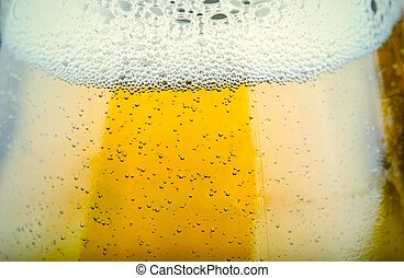 close up shot of beer glass