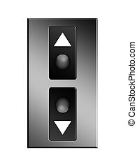 Elevator - Up and down elevator buttons. Object illustration